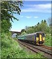 NY7210 : Railway bridge at Gallansay by Don Burgess