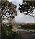 SX2792 : Lane junction near Clubworthy by Derek Harper