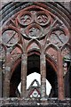 NX9666 : Window Detail at Sweetheart Abbey by Debbie Turner