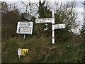 SX3094 : Signposts at Hornacott Chapel by Derek Harper