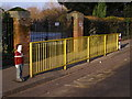 SU3913 : Railings outside Foundry Lane Primary School by Jim Champion