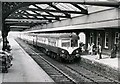 J2664 : Train, Lisburn station (1974) by Albert Bridge