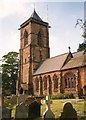 SJ5562 : St Helen's Church – the tower, Tarporley by Humphrey Bolton