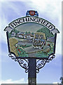 TL6832 : Village Sign at Finchingfield, Essex by Christine Matthews