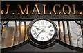 J3374 : Malcolm's clock, Belfast by Albert Bridge