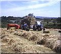 SX3373 : Hay baling near Pitt Farm by Trevor Rickard