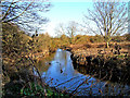 SO8274 : River Stour near pipe bridge by P L Chadwick