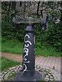 SJ9698 : Five ton hoist post by Michael John Lillie