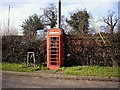 SJ6858 : Red telephone box by Ian Bottomley