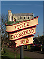 TG3112 : Little Plumstead - village sign by Evelyn Simak