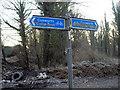 SE4804 : Cusworth cycle trail sign by Steve  Fareham