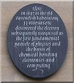 TL4458 : Electron plaque, Free School Lane by Keith Edkins