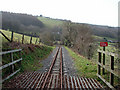 SN6778 : Vale of Rheidol Railway track by John Lucas
