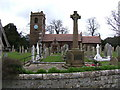 SJ4668 : St. Bartholomew's Church,and War Memorial, Great Barrow by BrianPritchard