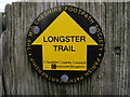 SJ4568 : Longster Trail Sign by BrianPritchard