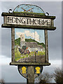 TG3131 : Edingthorpe - village sign by Evelyn Simak