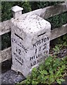 TF3038 : London Road mile stone, Kirton by Elizabeth Hancock