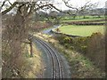 SH4858 : Curving track at the approach to the Cae Moel overbridge by Eric Jones