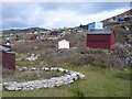 "SY6873 : ""Beach"" Huts, Fortuneswell, Portland by Nigel Mykura"