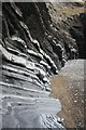 SN5882 : Rock strata at Aberystwyth by Bob Jones