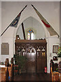 TG1617 : St Margaret's church - tower arch and screen by Evelyn Simak