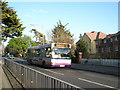 SU6605 : Number 63 bus passing thgrough East Cosham by Basher Eyre