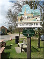 TL0873 : Village Sign, Catworth by Michael Trolove