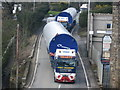 SD8019 : Turbine Convoy passing through Bridge Mills by Paul Anderson