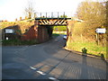 SP8206 : Little Kimble: B4009 Grove Lane railway bridge by Nigel Cox