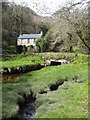 SW7528 : Trenarth bridge at the head of Porth Navas Creek by Rod Allday