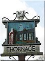 TG0536 : Village sign - detail by Evelyn Simak
