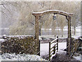 TV5598 : The Tapsel Gate, Friston Church, East Sussex by Kevin Gordon