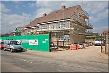 SU5716 : New house building in New Road, Swanmore by Peter Facey