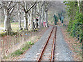 SN6080 : Railway line at Glanyrafon by John Lucas
