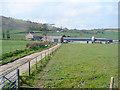 SN6380 : Pwll-cenawon farm by John Lucas
