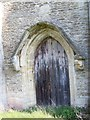 SU4092 : Priest door, St James the Great, West Hanney by Maigheach-gheal