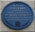 SO7745 : C.S. Lewis Plaque on the Unicorn Inn by Bob Embleton