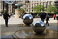 SK3587 : Steel Spheres, Peace Gardens by N Chadwick: Week 17