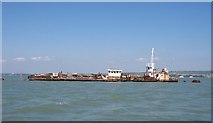 SU6203 : Floating Scrap Yard - Portsmouth Harbour by Colin Babb