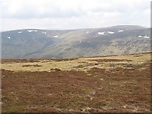 NN8136 : Moorland on the north top of Meall nam Fuaran by Richard Webb