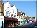 Dist:0.2km<br/>The Noble Vine hostelry is prominent on this stretch of the shopping street.
