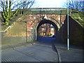 SP0884 : Railway Bridge over road, Runcorn Road, Balsall Heath by Darius Khan