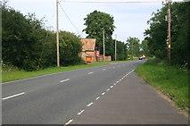 TL0669 : The B645 heading towards Kimbolton by Shaun Ferguson