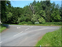 SP9833 : Road Junction, Eversholt by Mr Biz