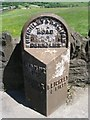 SE0634 : Milestone - Keighley Road, Denholme Edge by Betty Longbottom