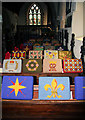 TM1634 : Kneelers in Stutton Church by Bob Jones