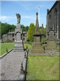 SE0023 : Hinchliffe memorials, Cragg Vale, Mytholmroyd by Humphrey Bolton