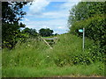 SP7831 : Overgrown Public Footpath by Mr Biz