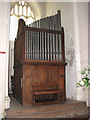 TF9434 : St Mary's church - organ by Wm Denman of York by Evelyn Simak