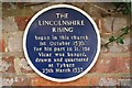 Photo of Lincolnshire Rising and Thomas Kendell blue plaque